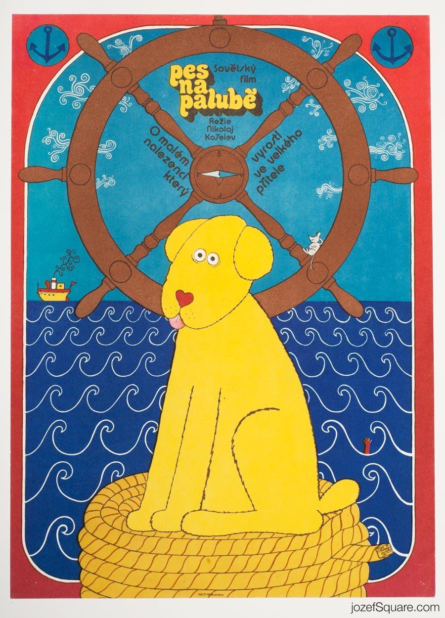 Salty Dog, Kids Movie Poster, 70s Illustrated Artwork