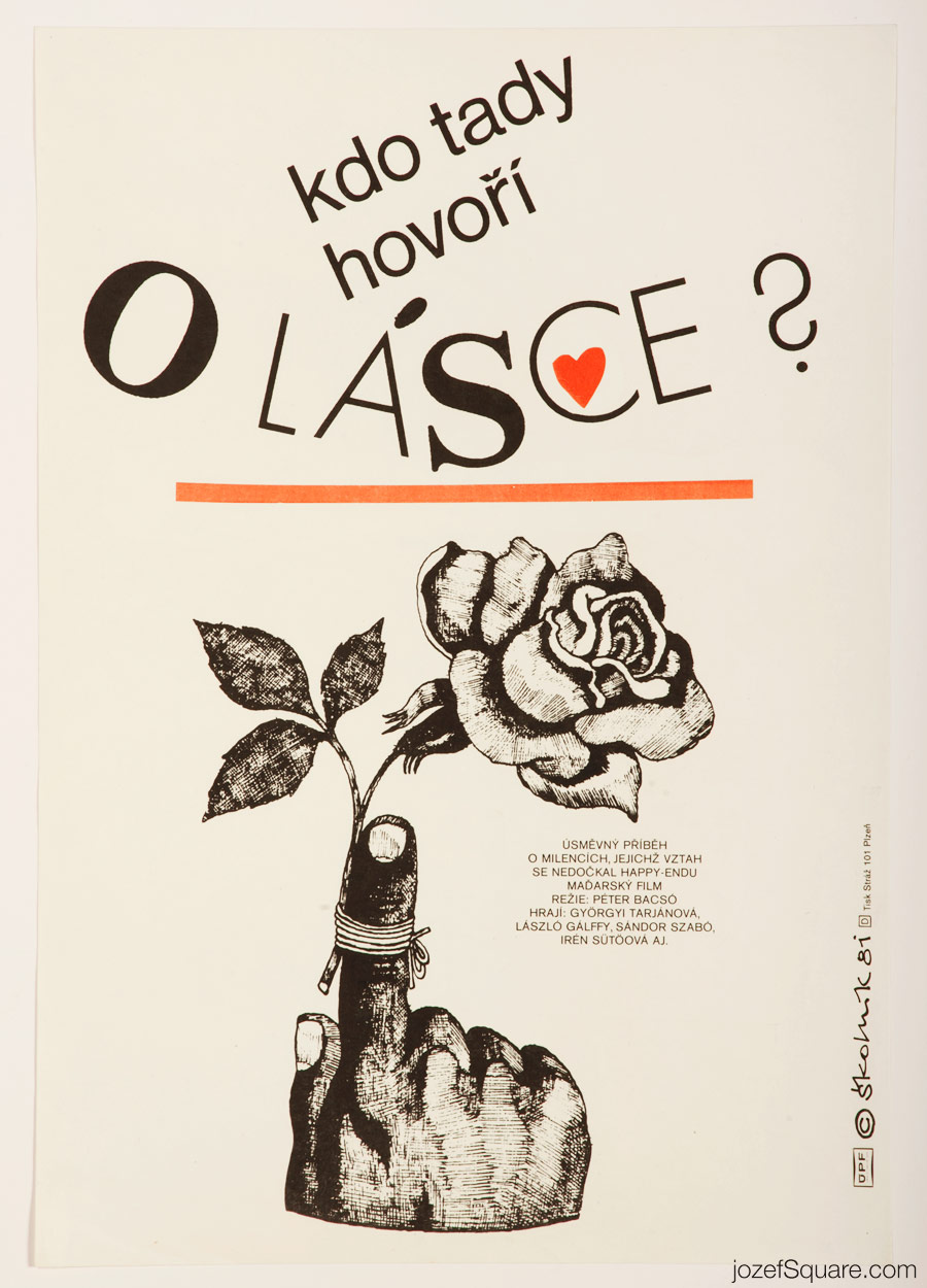 Who Talks About Love Here Movie Poster, Illustrated Poster Art