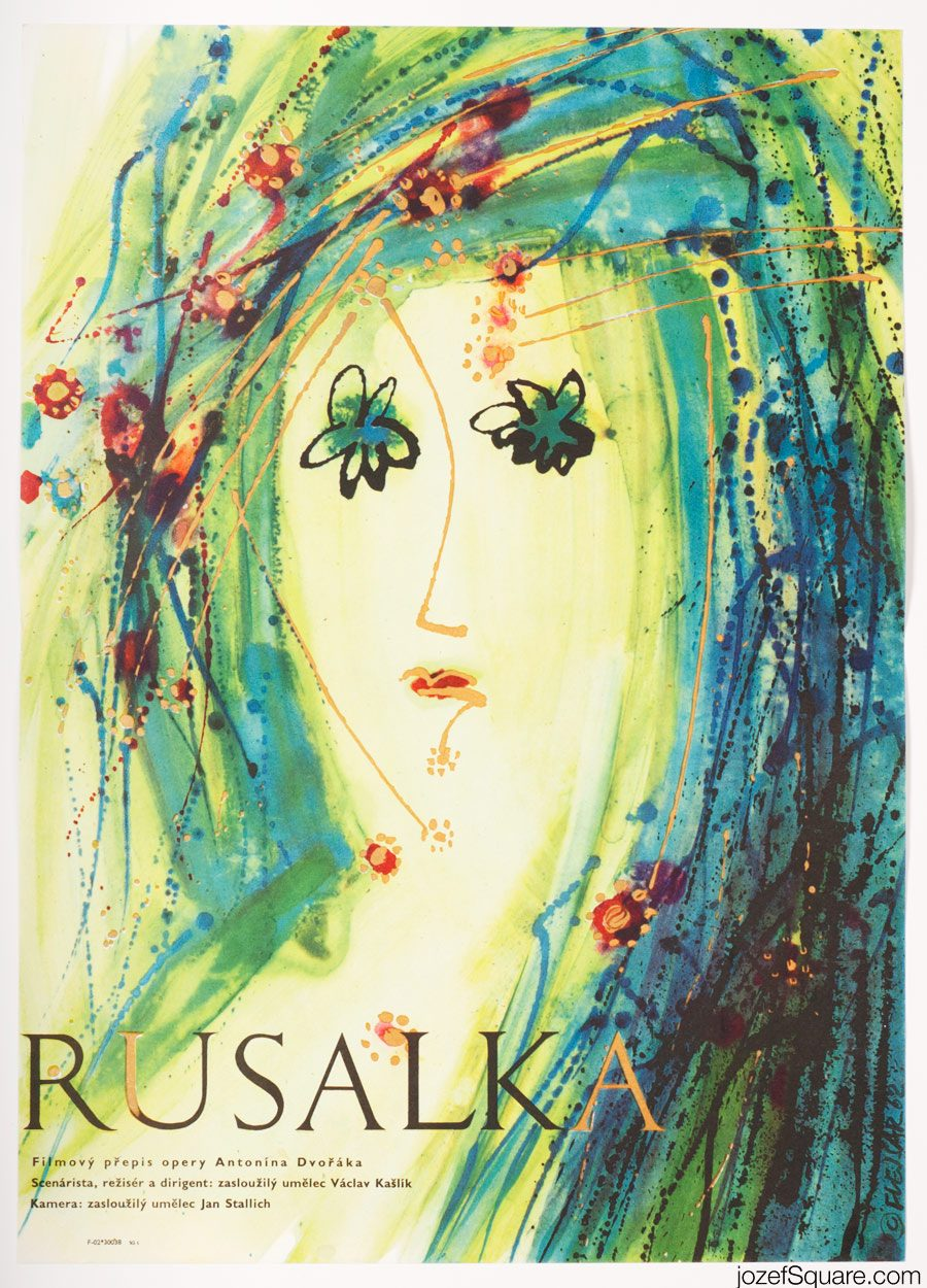 Rusalka Movie Poster, 60s Kids Poster Art