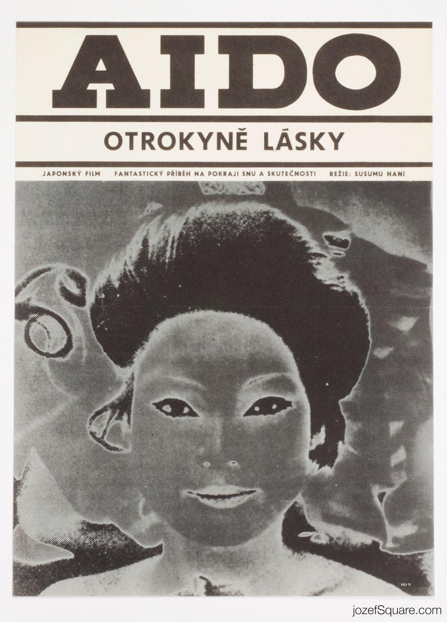 Aido, Slave of Love Movie Poster, 60s Art, Karel Machalek