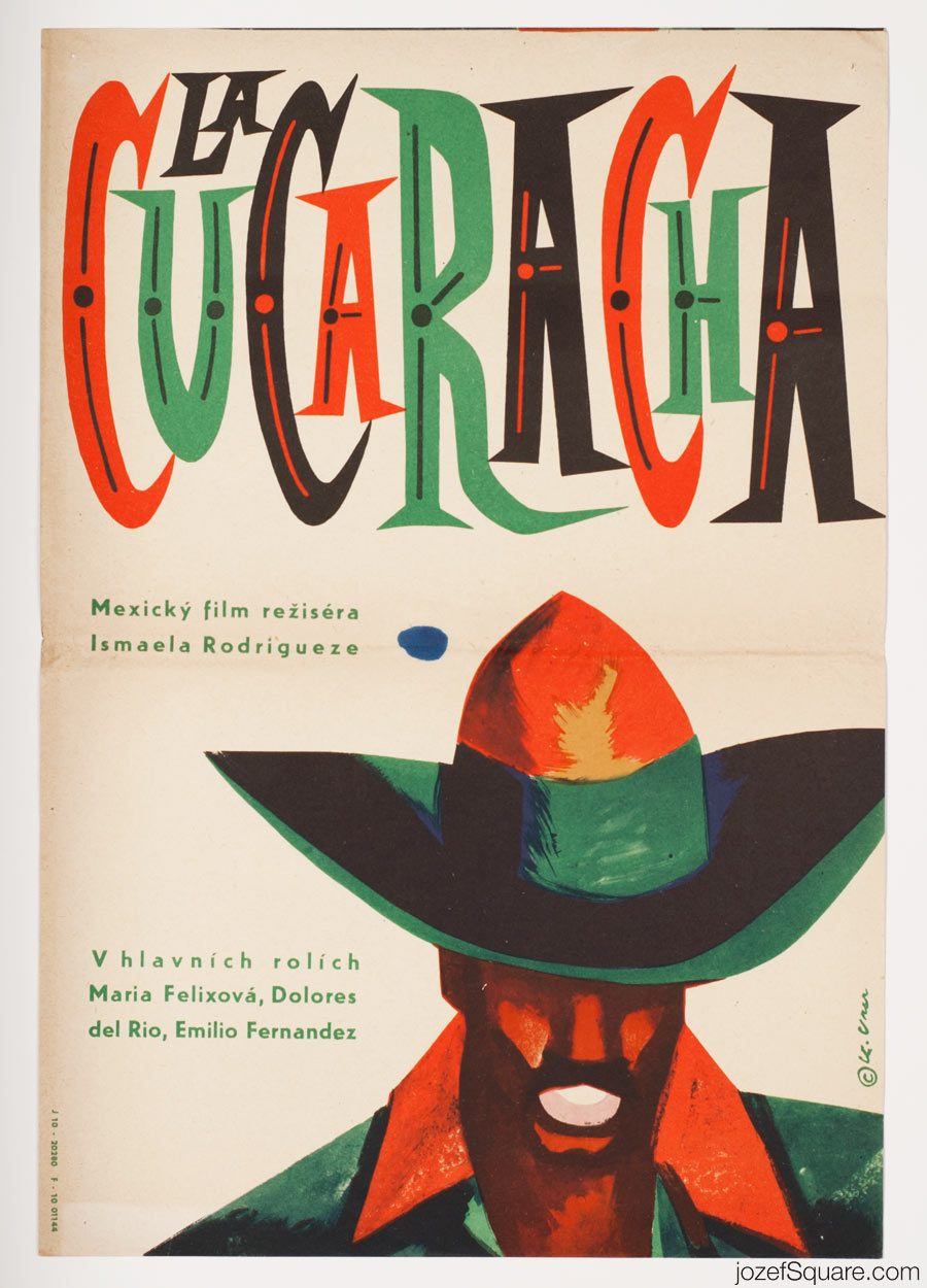 The Soldiers of Pancho Villa MOvie Poster, Karel Vaca, Mexican Cinema