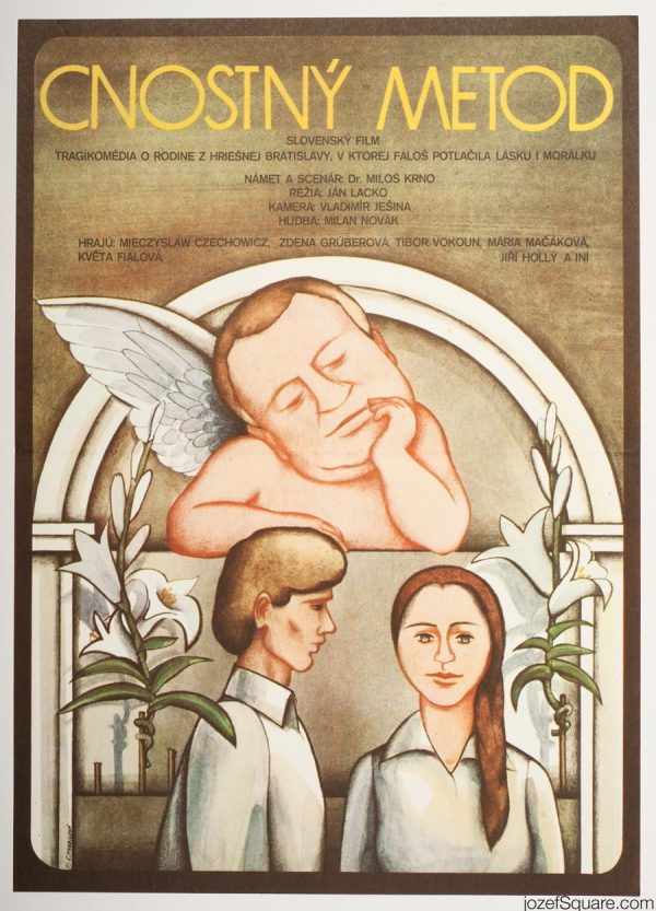 Virtuous Methodius Movie Poster, 70s Illustrated Poster Art