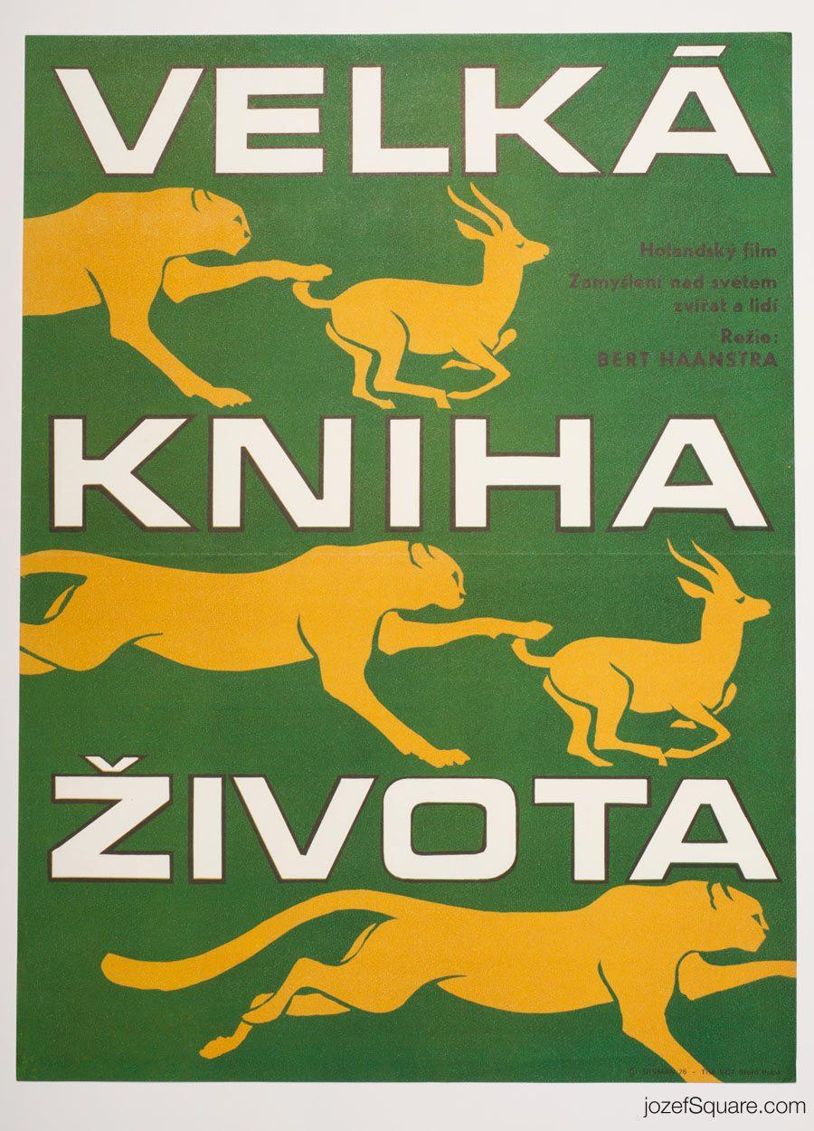 Instinct for Survival Movie Poster, 70s Poster Art