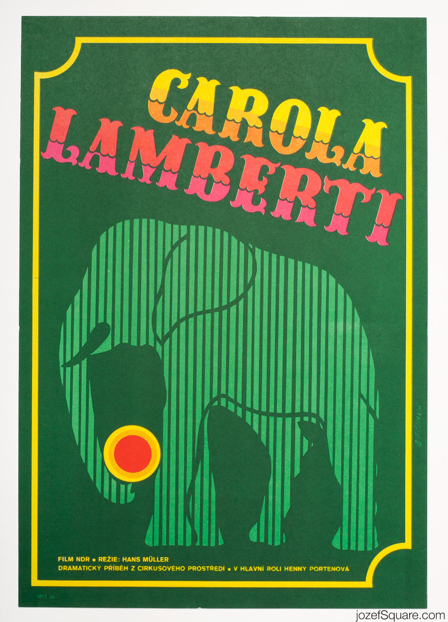 Carola Lamberti Movie Poster, 70s Circus Poster Art