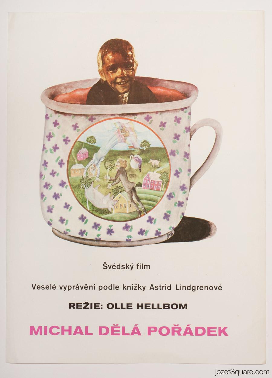 New Mischief by Emil Movie Poster, Astrid Lindgren