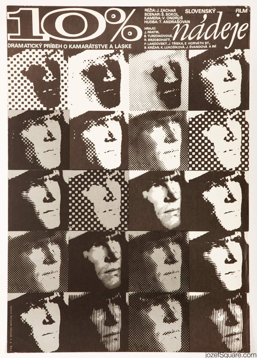 Ten Percent of Hope Movie Poster, 70s Poster Art