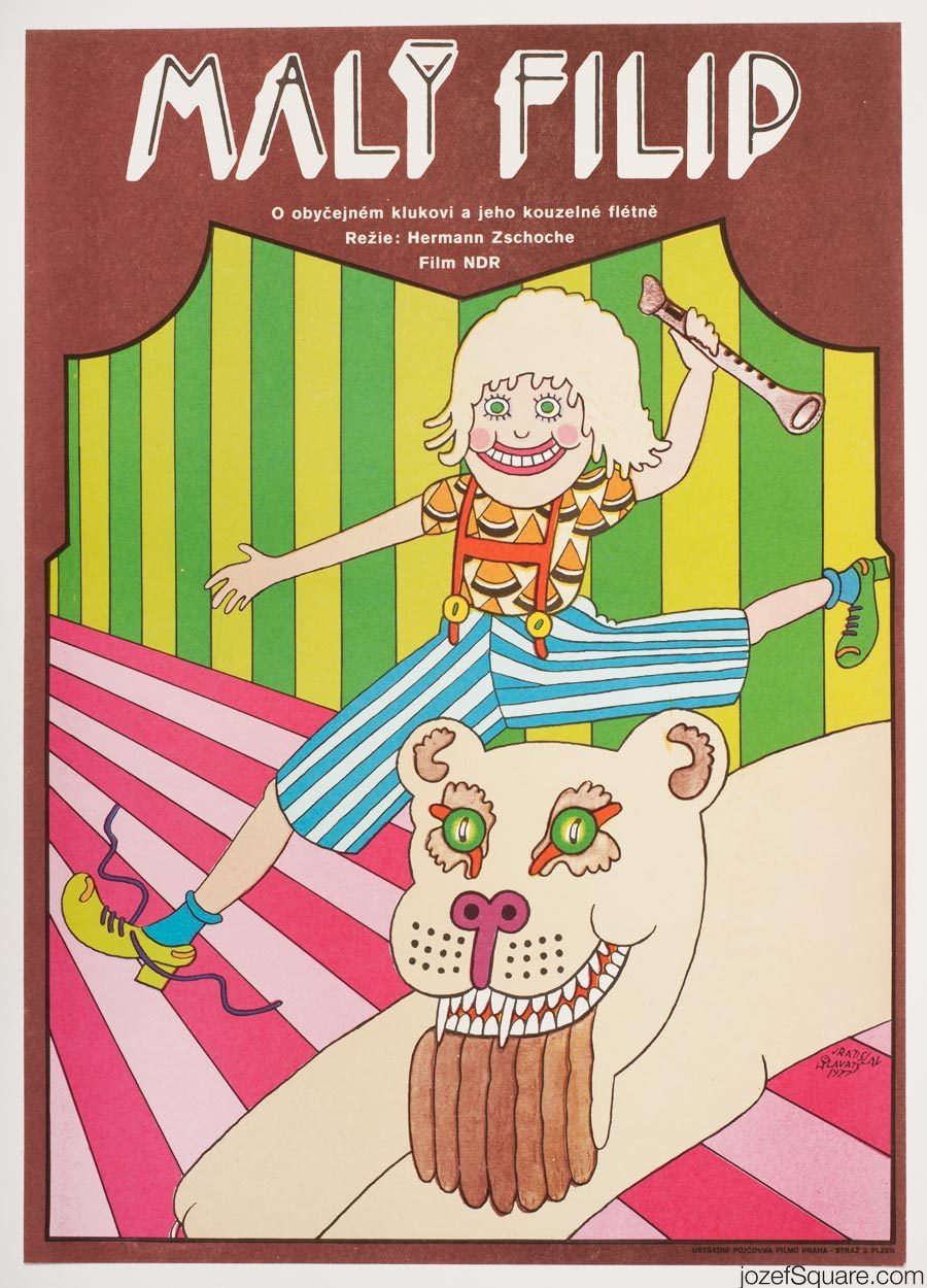 Phillip the Small Movie Poster, 70s Illustrated Kids Poster
