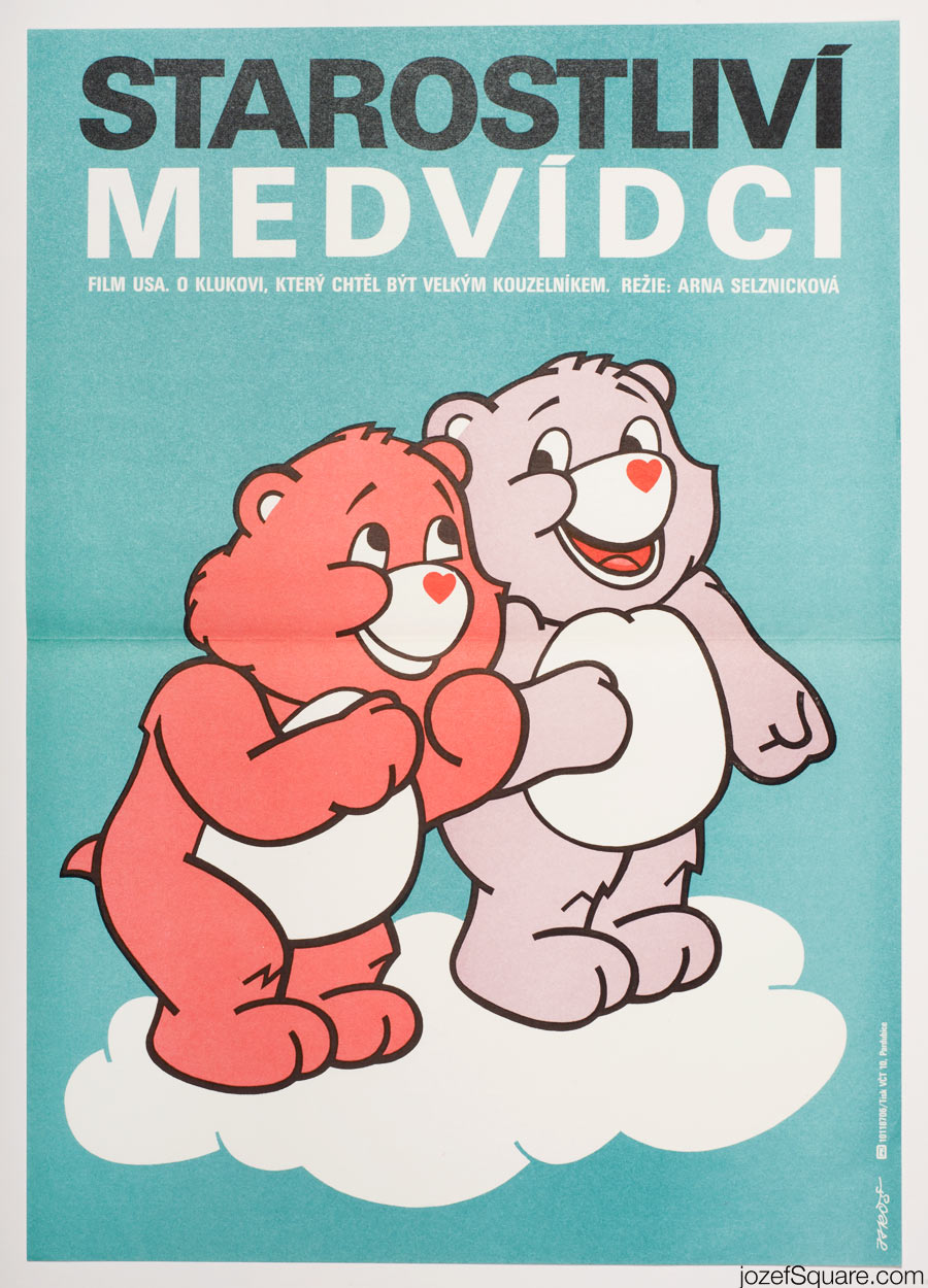The Care Bears Movie, 80s Illustrated Kids Movie Poster