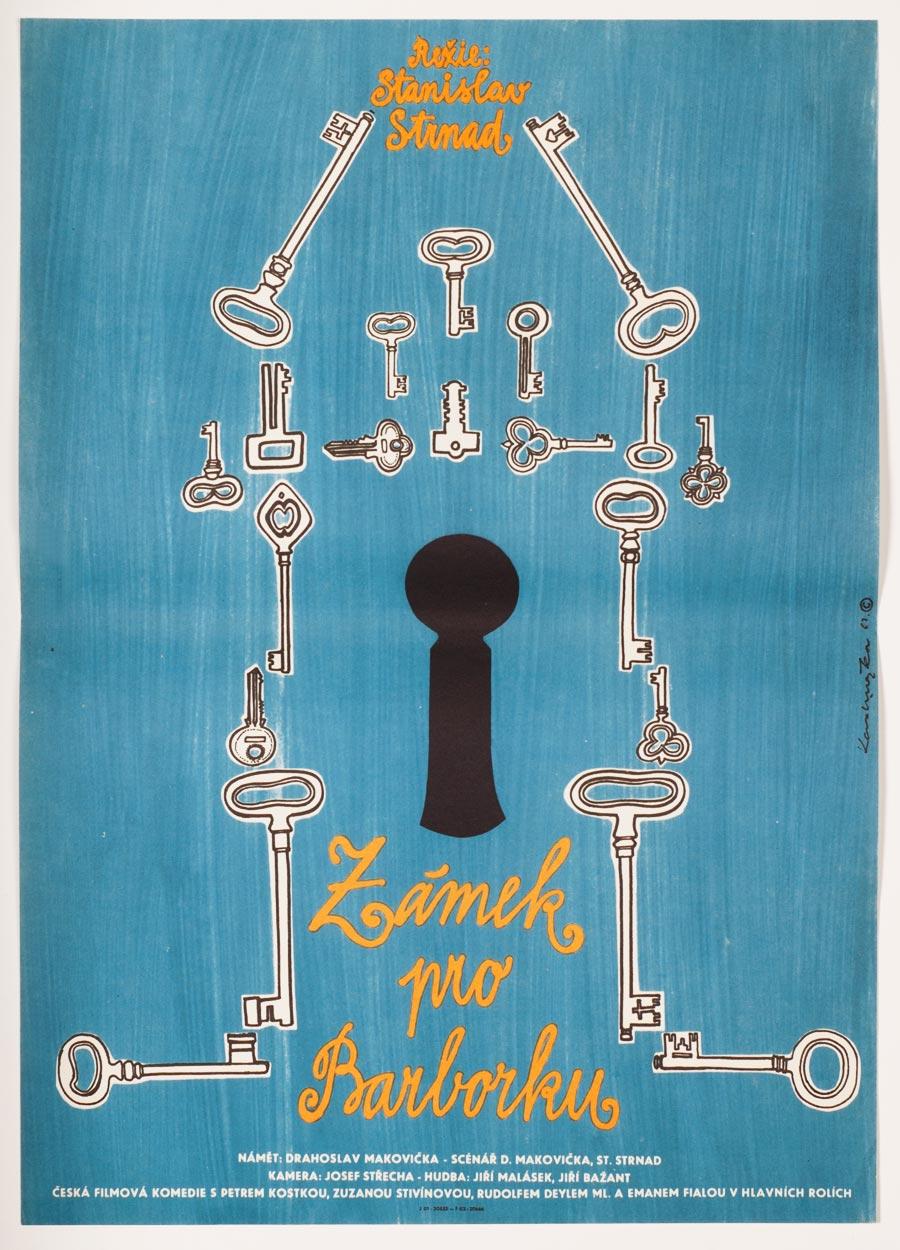 Castle for Barbara Movie Poster, 60s Kids Poster Art
