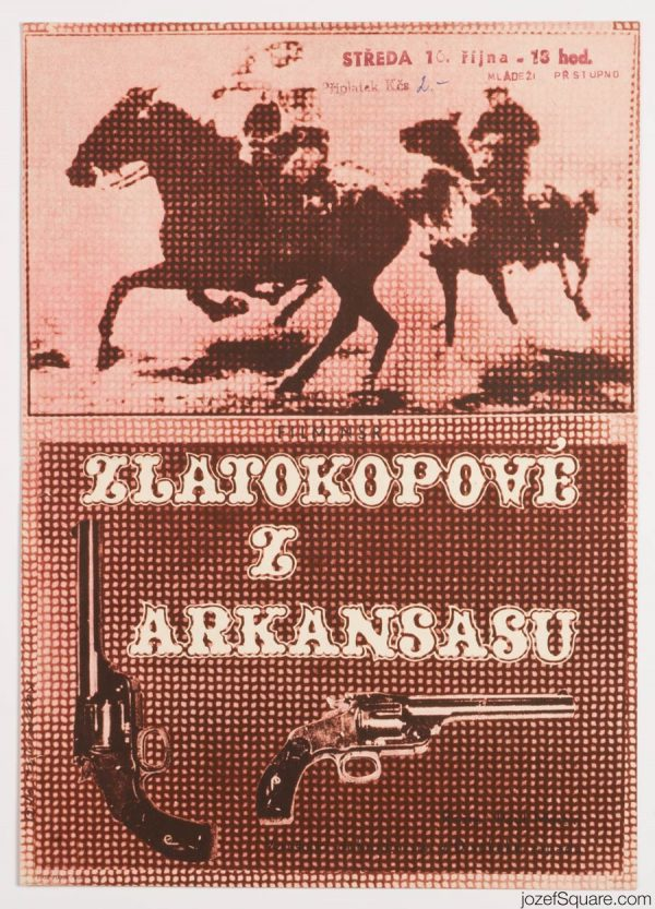 Western Movie Poster, Conquerors of Arkansas, 60s Artwork