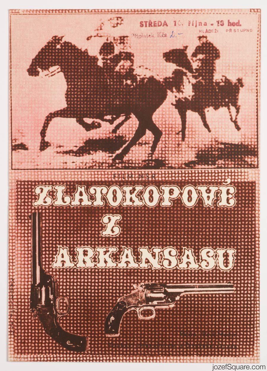 Western Movie Poster, Conquerors of Arkansas, 60s Artwork