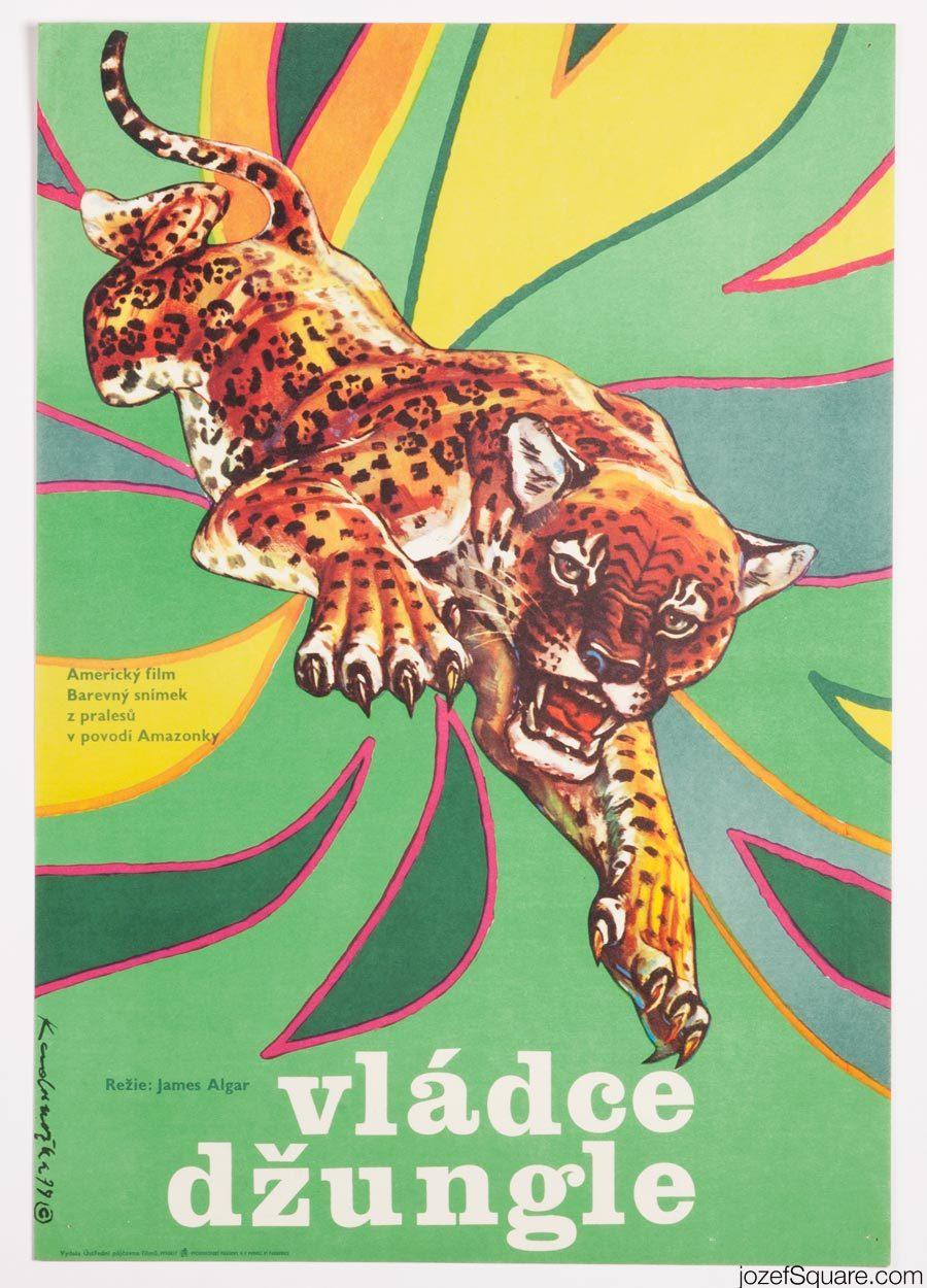 Jungle Cat, 70s Kids Movie Poster Art