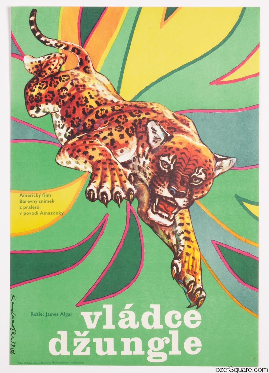 Jungle Cat, 70s Kids Movie Poster Art