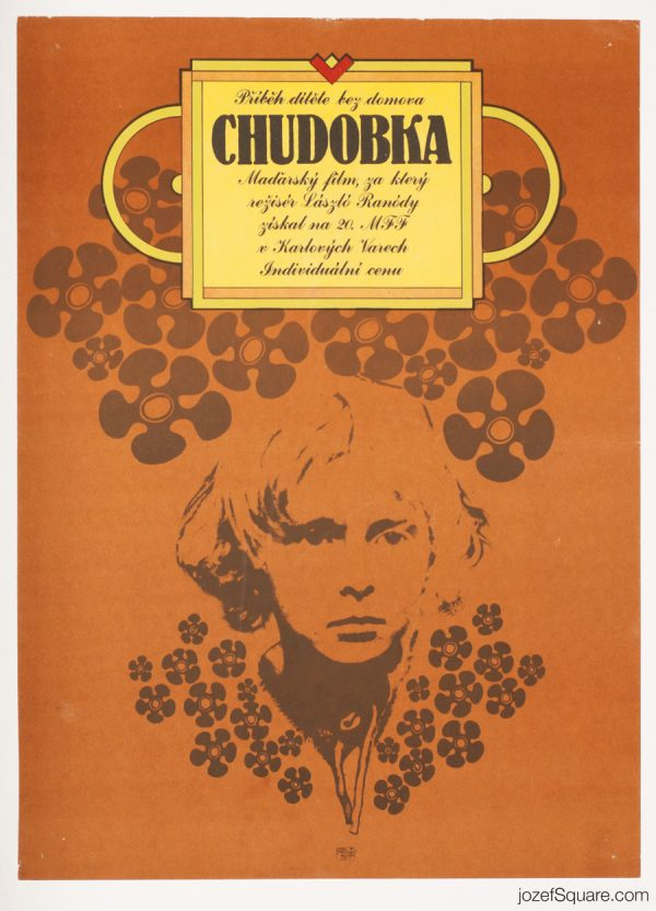 Nobody's Daughter Movie Poster, Hungarian Cinema, 70s Artwork