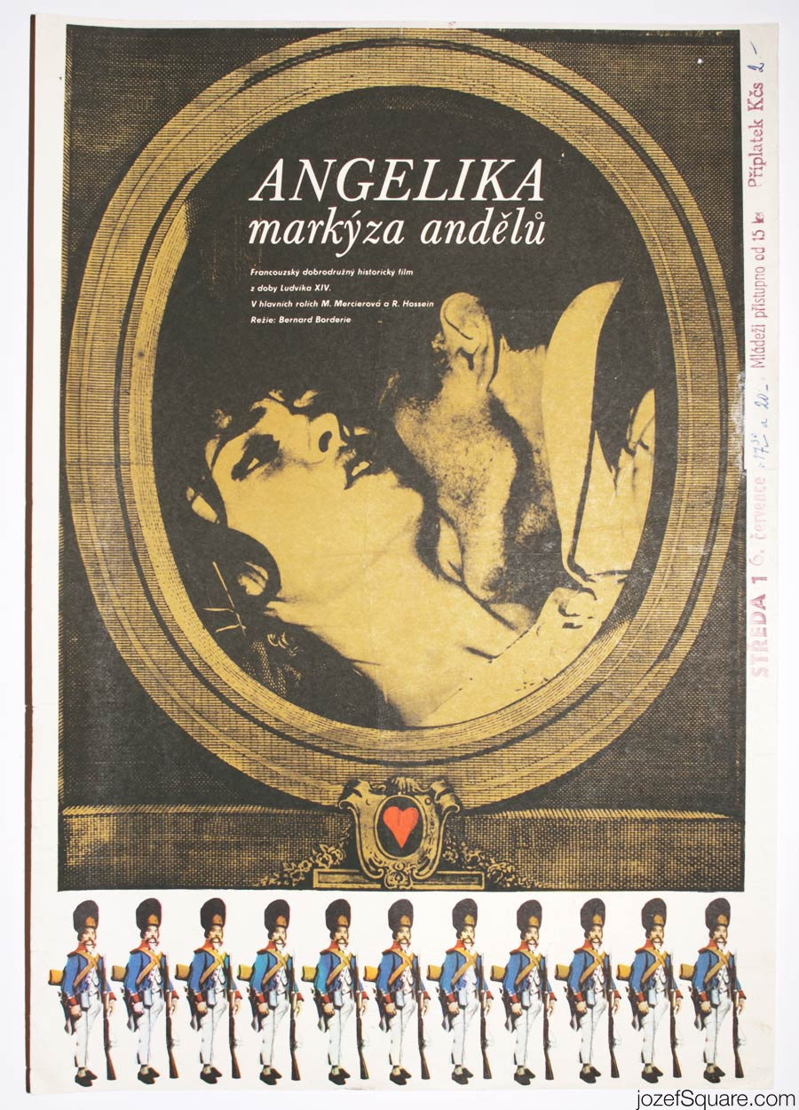 Angélique Movie Poster, 60s Romantic Poster Art