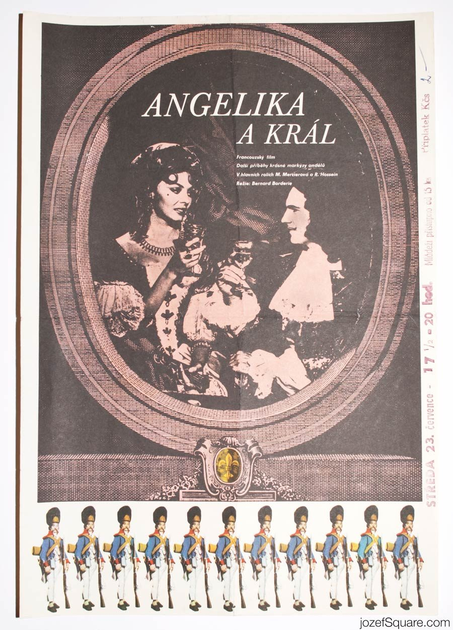 Angélique and the King Movie Poster, 60s Poster Art