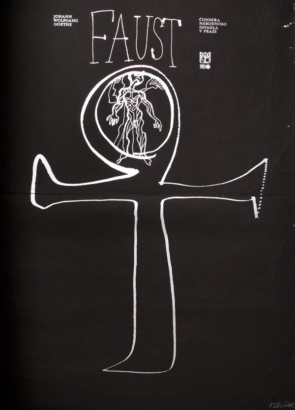 Faust Theatre Poster, 80s Poster Artwork, Josef Flejsar