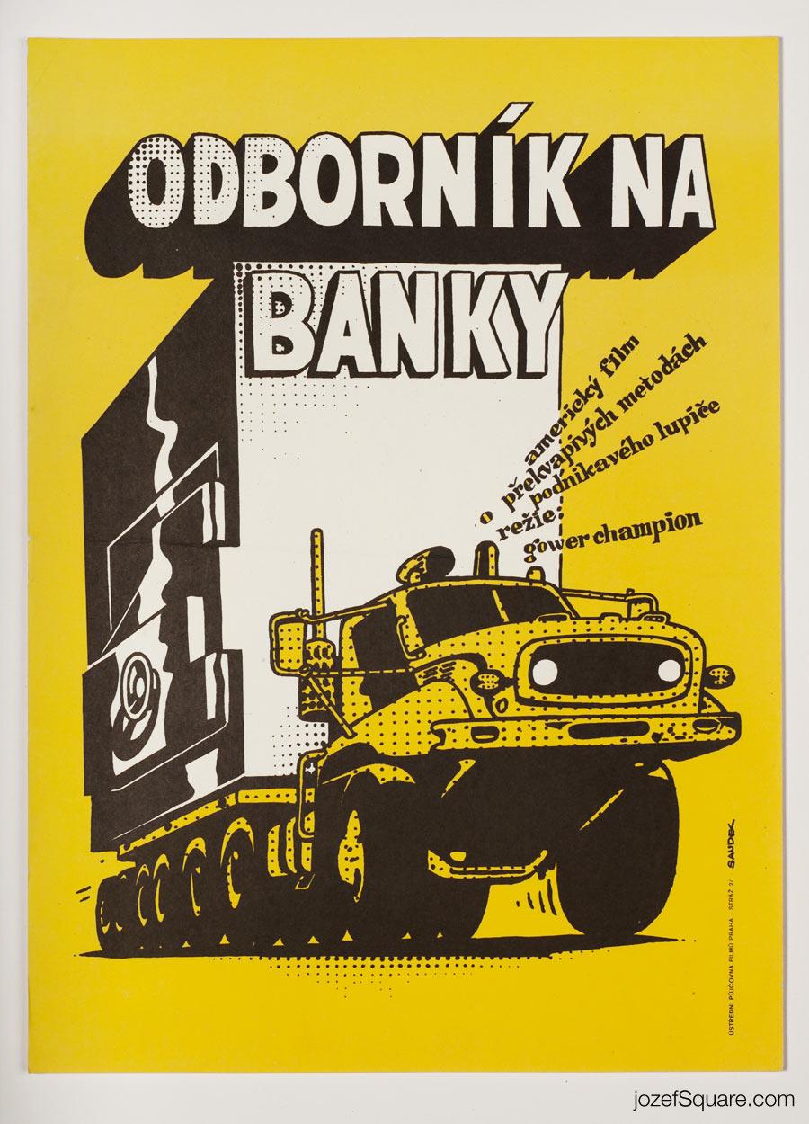 Bank Shot Movie Poster, Karel Saudek