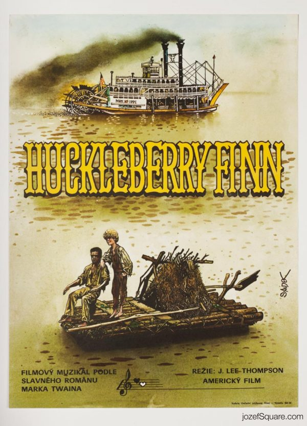 Huckleberry Finn Movie Poster, Mark Twain