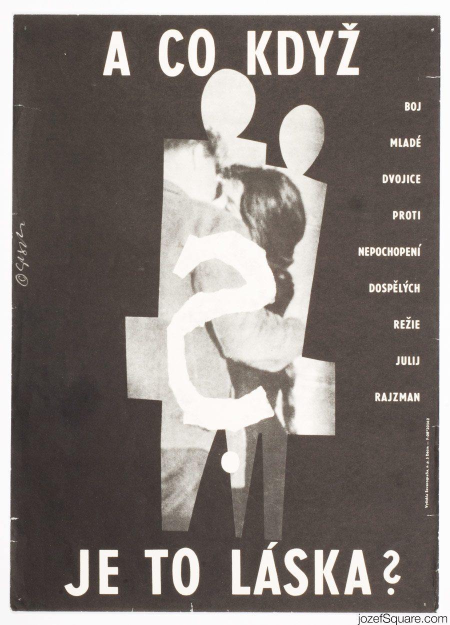 But What If This Is Love Movie Poster, Milan Grygar, 60s Poster Art