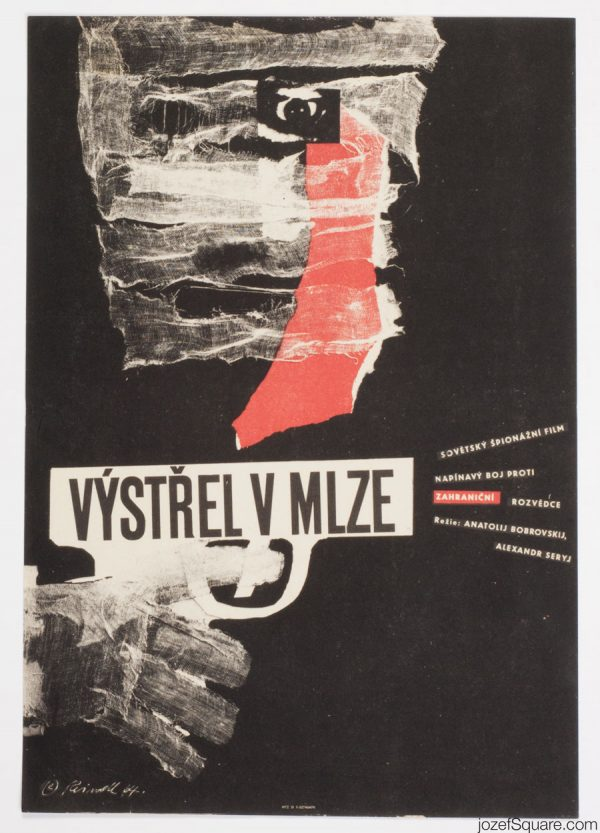 Shot in the Mist Movie Poster, Milos Reindl, 60s Artwork