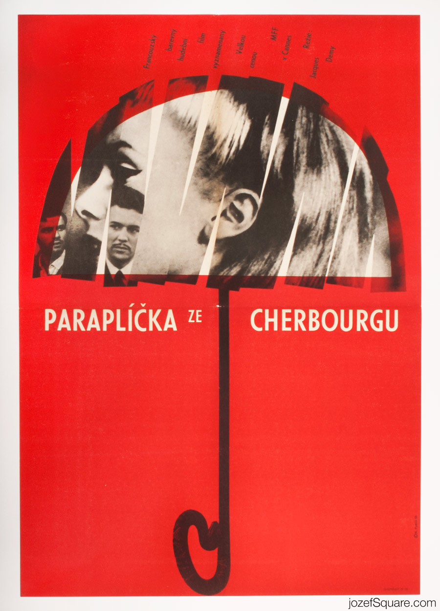 The Umbrellas of Cherbourg Movie Poster, Catherine Deneuve