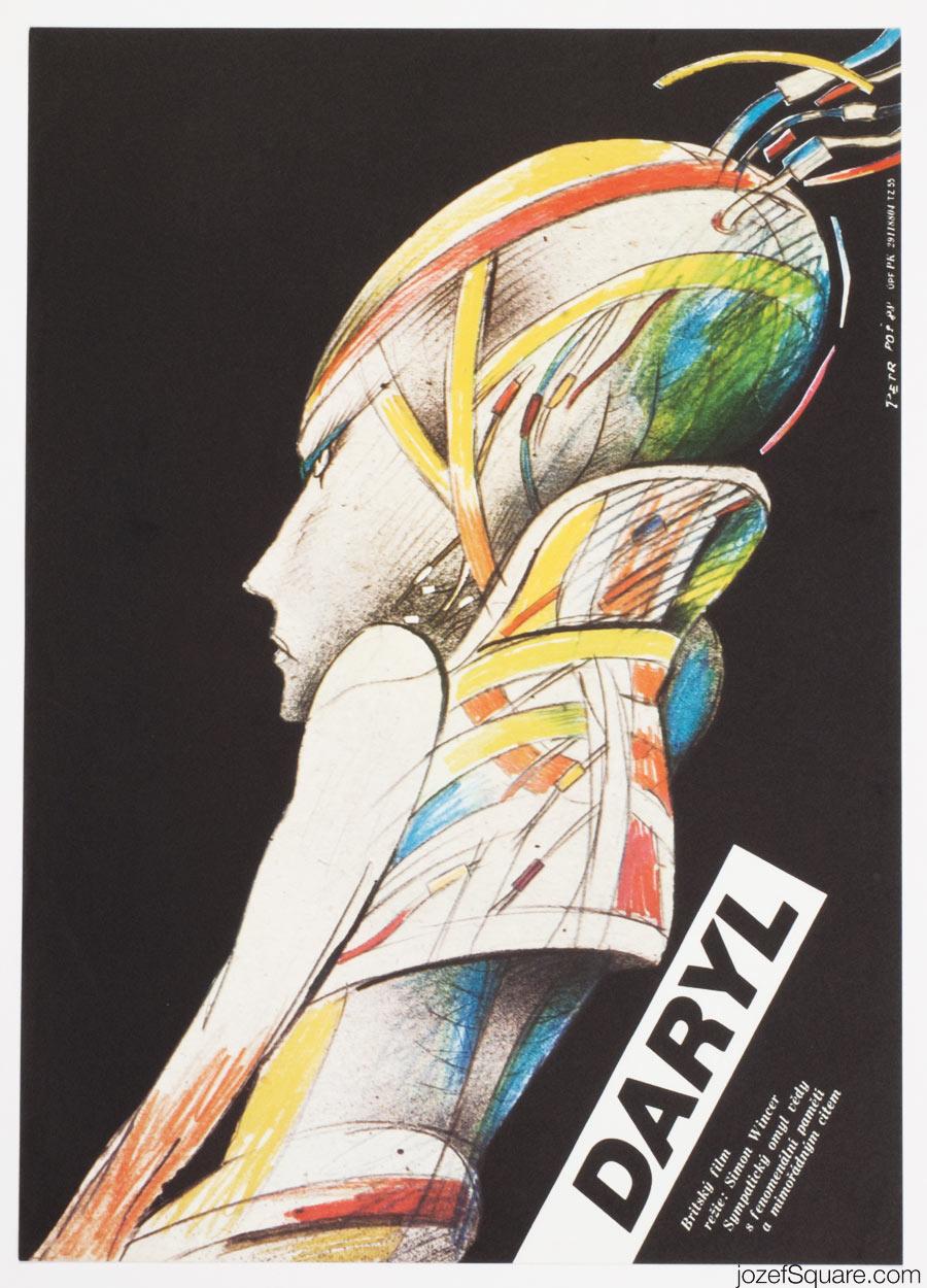 Daryl Movie Poster, 80s Sci-fi Art