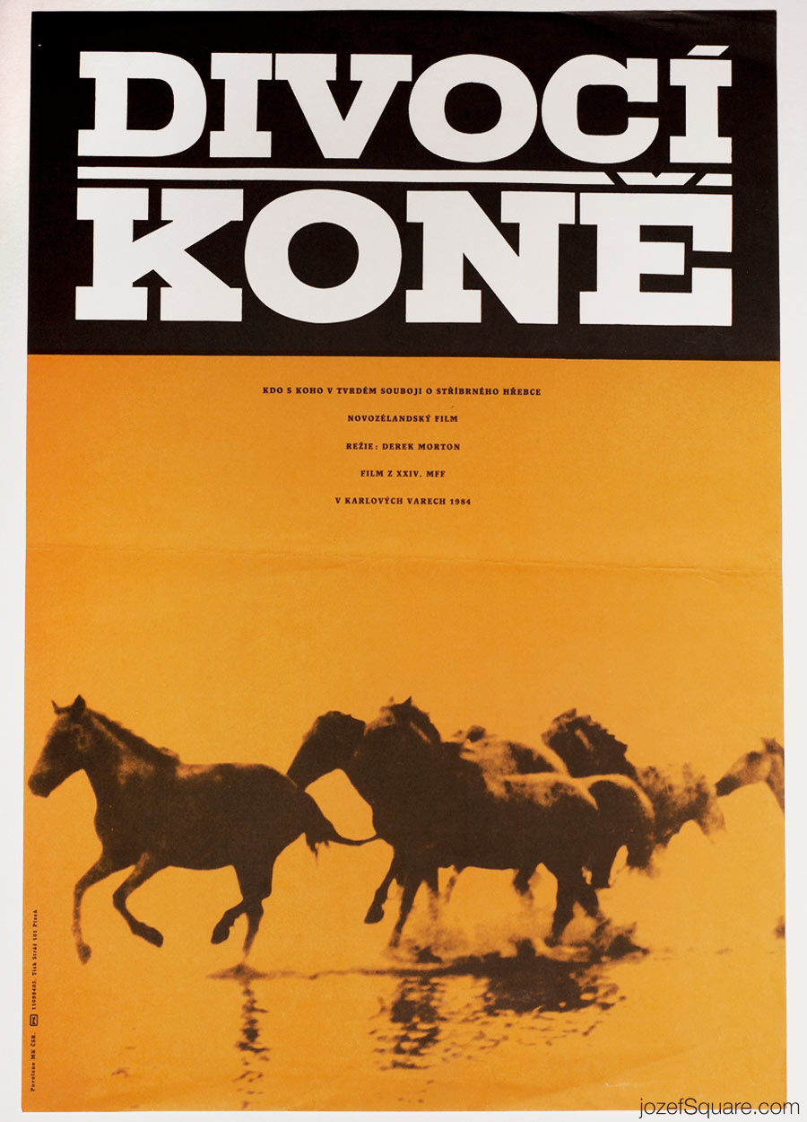 Wild Horses Movie Poster, 80s Poster Art