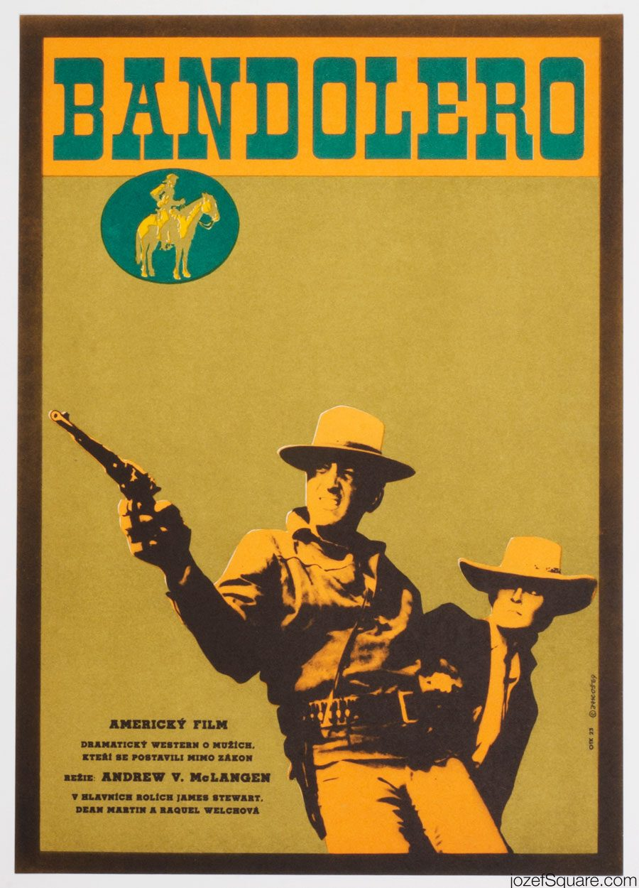 Bandolero Movie Poster, 60s Western Poster Art
