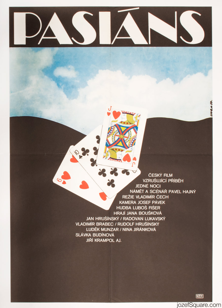 Pasiáns Movie Poster, 70s Artwork , Karel Vaca