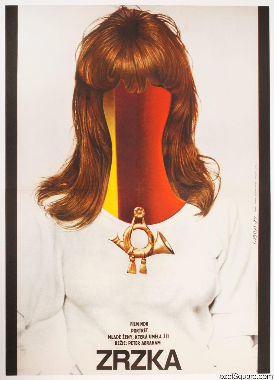 Redhead Movie Poster, 70s Surreal Poster Artork