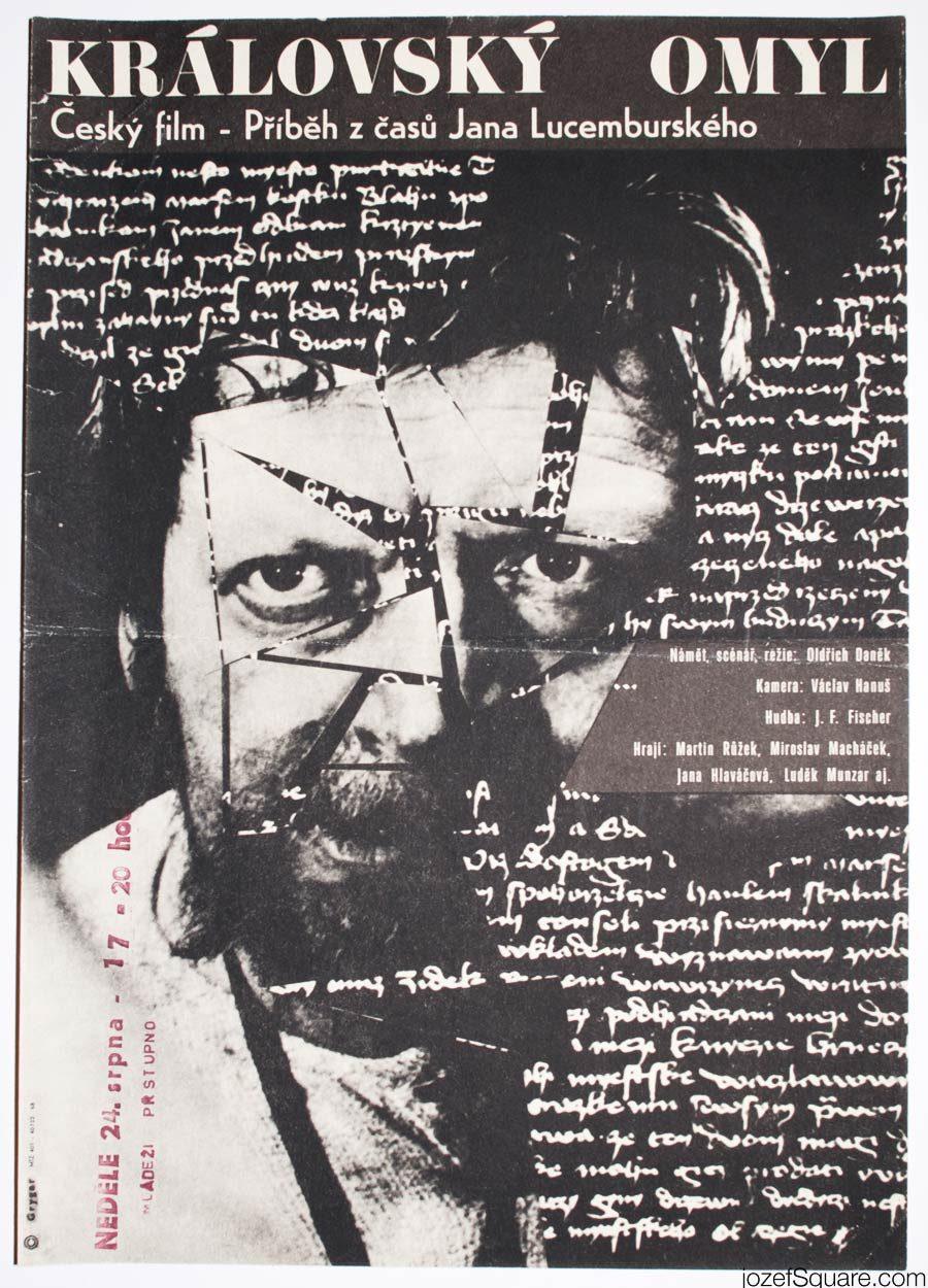 Kings Mistake Movie Poster, 1960s Poster Art, Milan Grygar