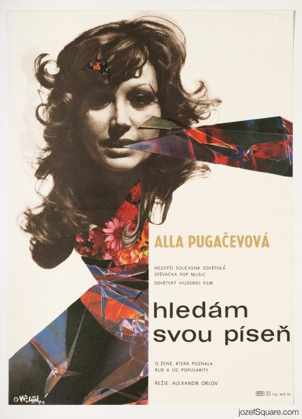 A Woman That Sings Movie Poster, 70s Collage Artwork