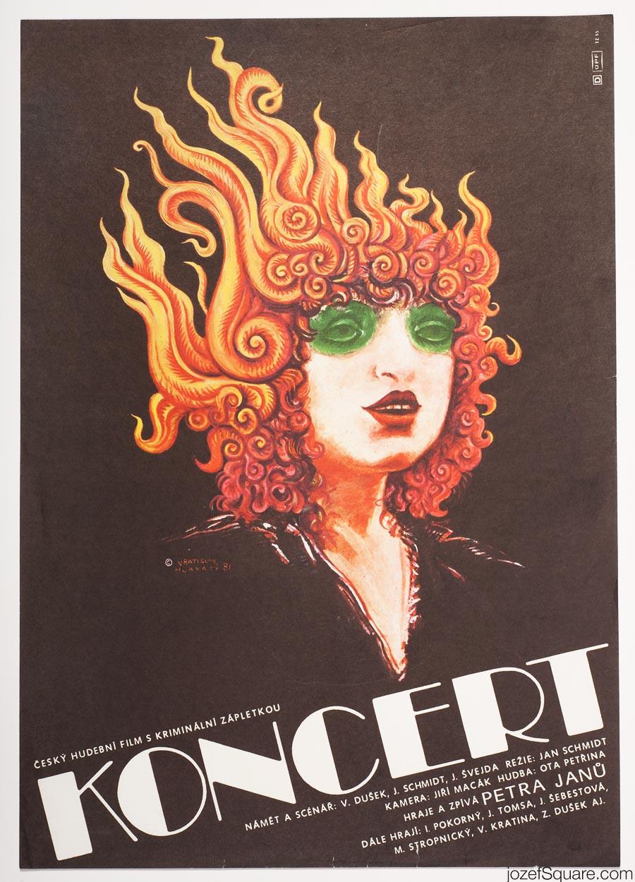Concert Movie Poster, Vratislav Hlavaty