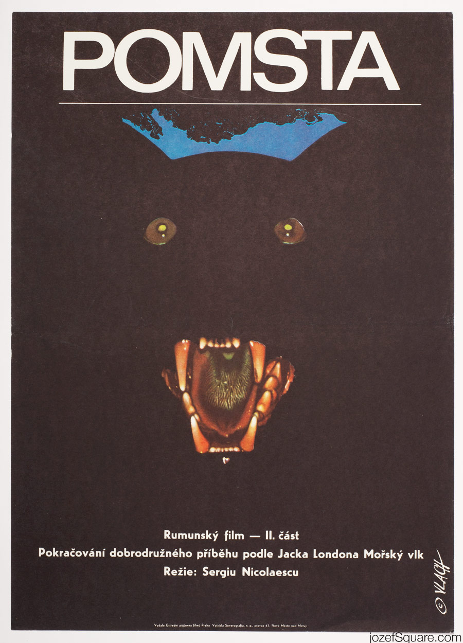 The Seawolf Movie Poster, 70s Poster Art