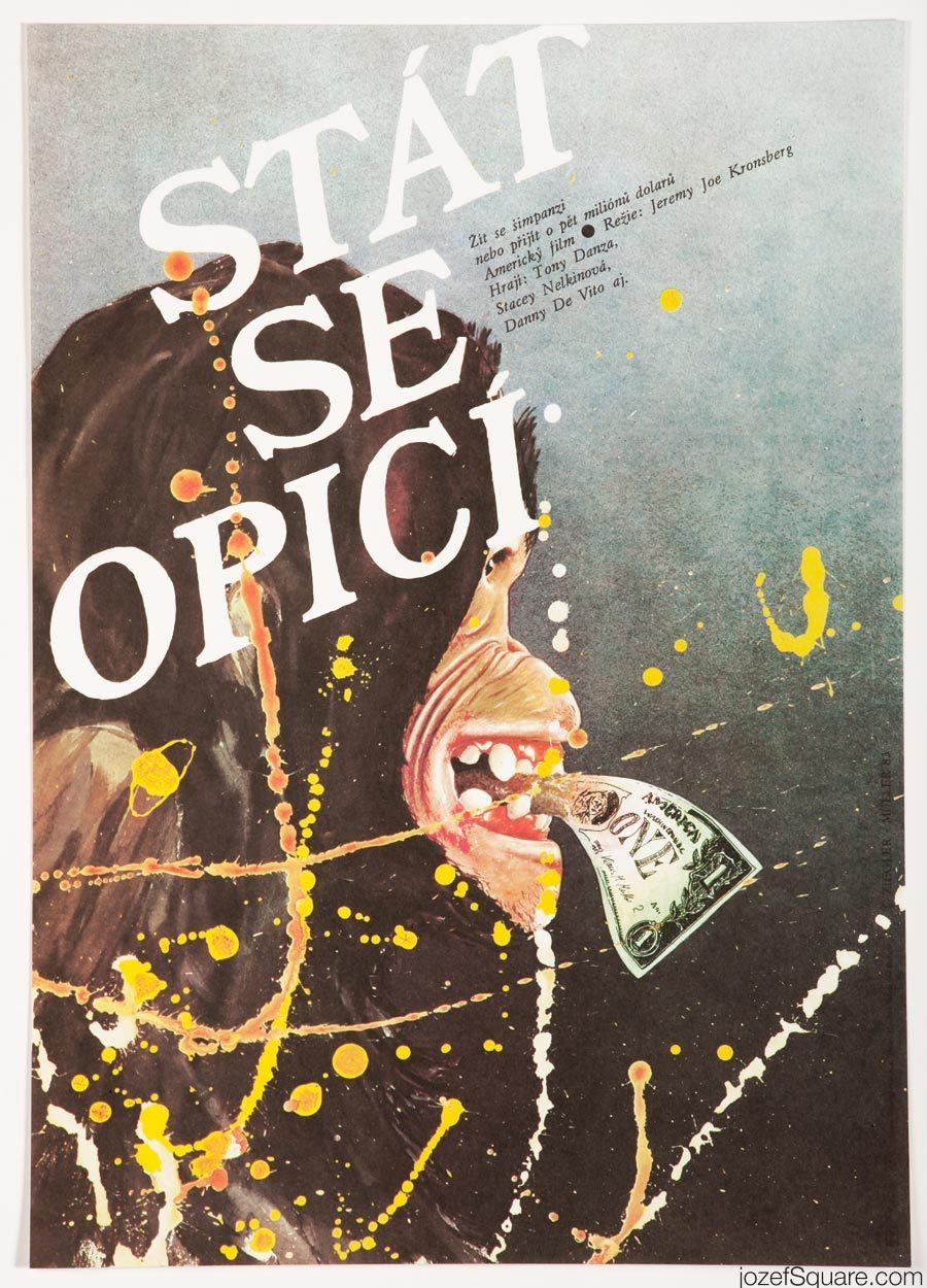 Going Ape Movie Poster, Zdenek Ziegler