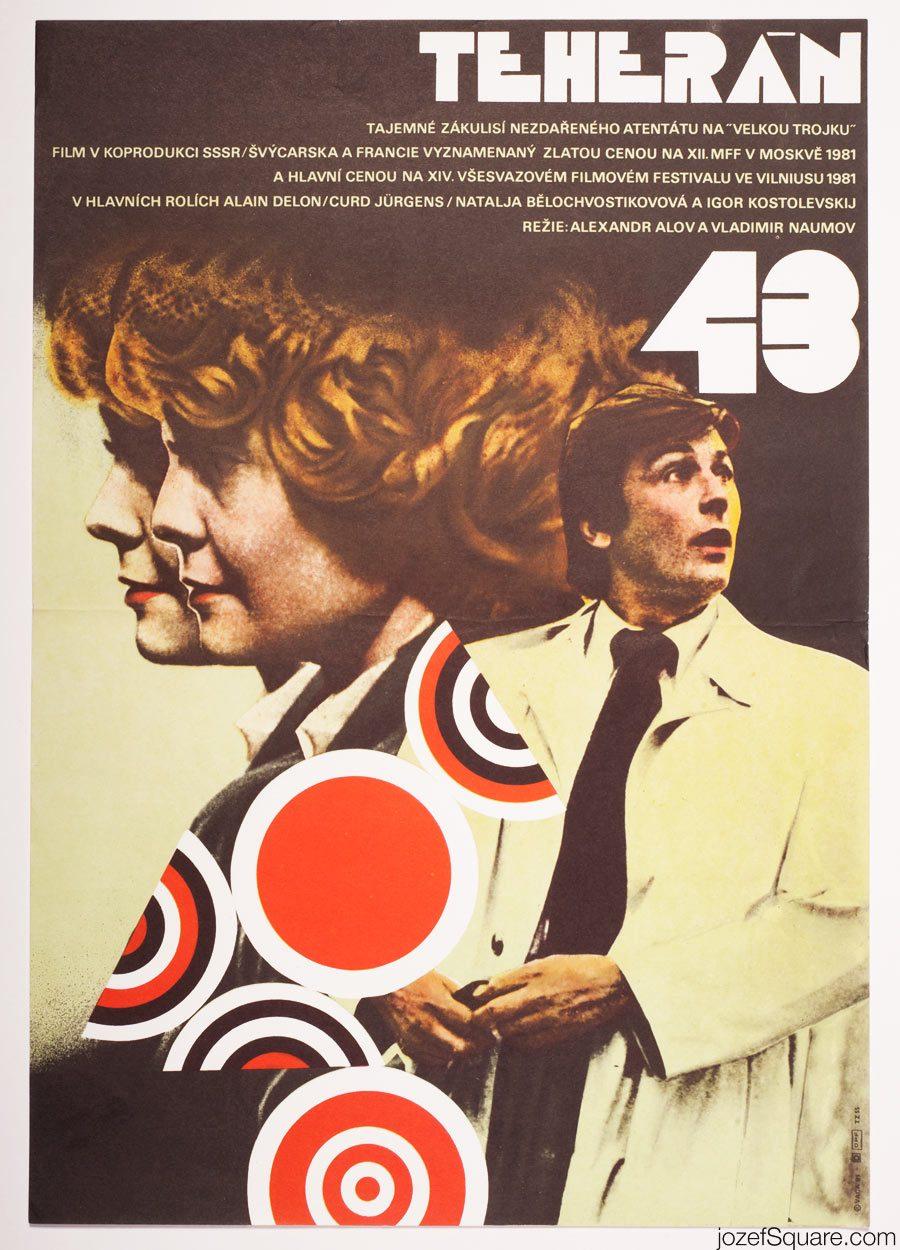 Alain Delon Movie Poster, Assassination Attempt