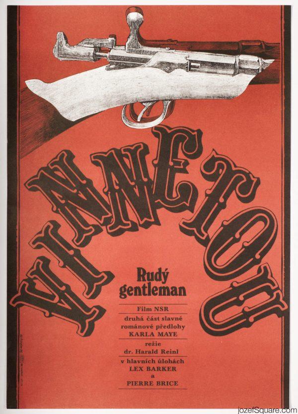 Winnetou Movie Poster, 60s Western Poster Art