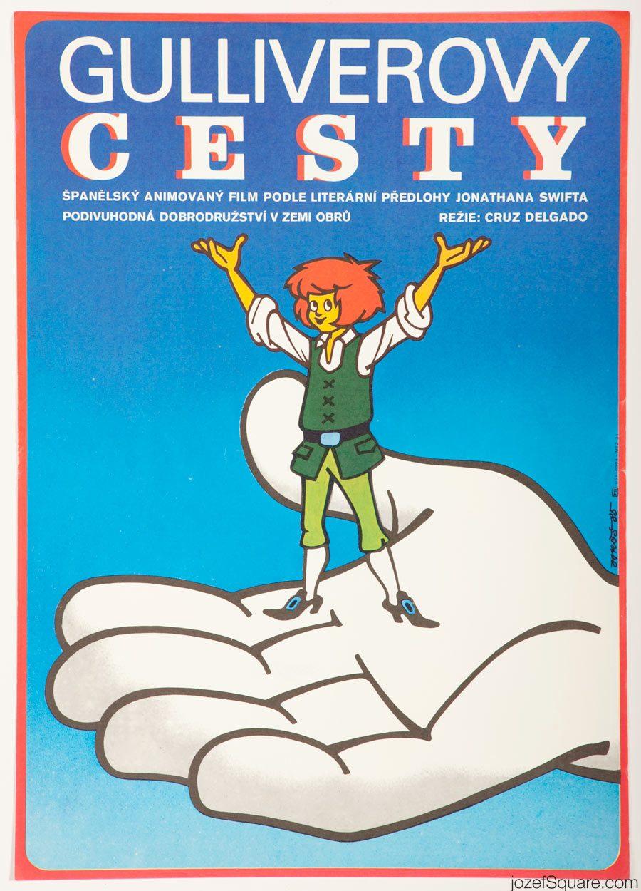 Gulliver's Travels Movie Poster, 80s Kids Poster