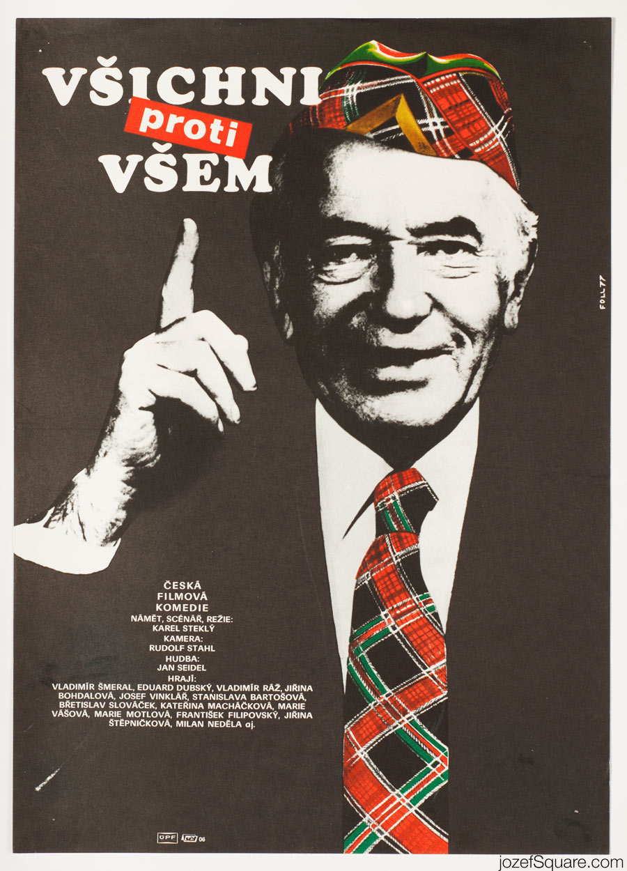 All Against All Movie Poster, 70s Poster Art, Czechoslovakia