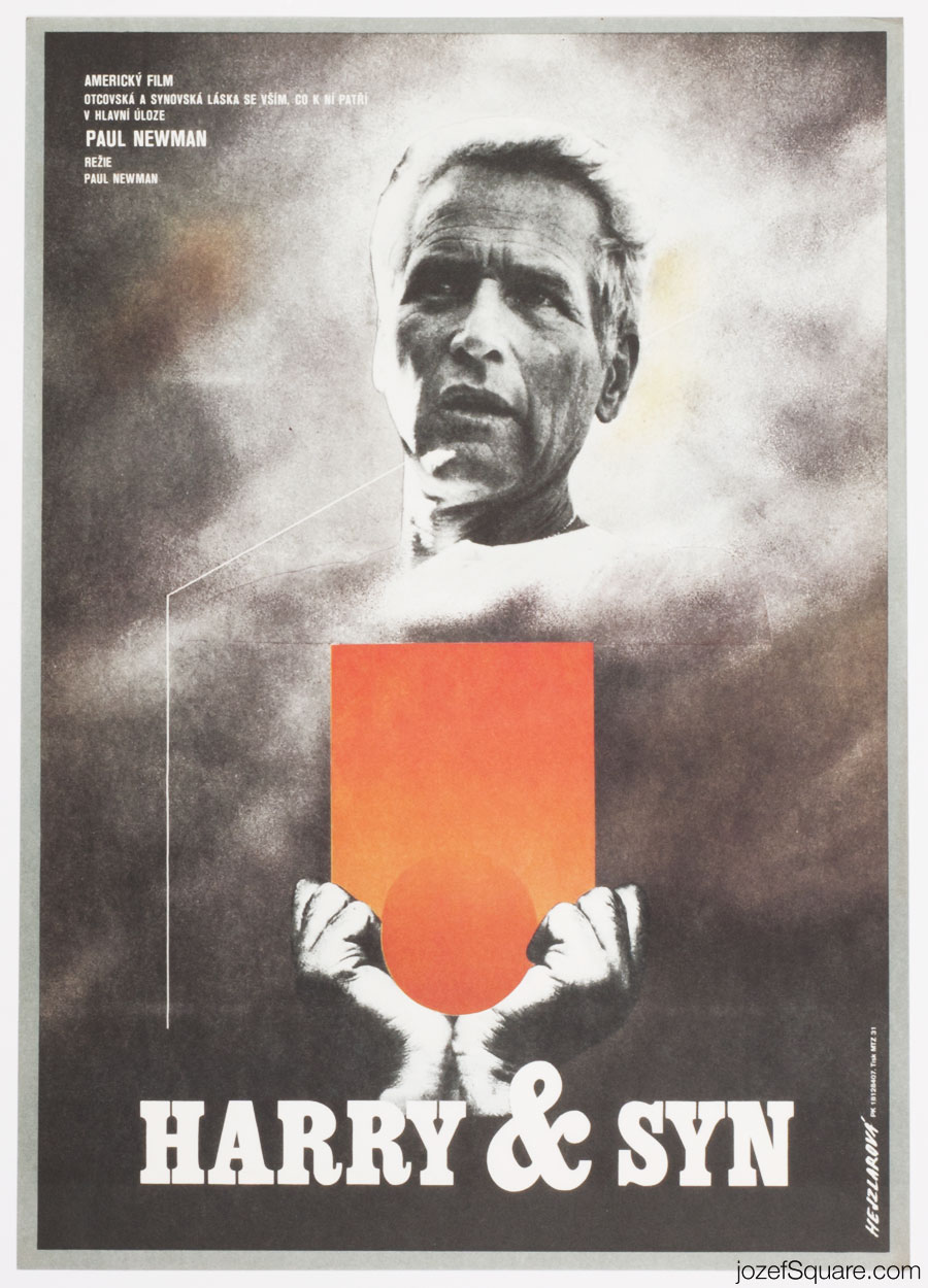 Harry and Son Movie Poster, Paul Newman, Abstract Poster Artwork