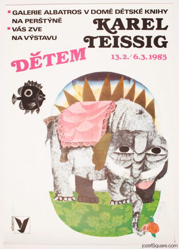 Exhibition Poster, Karel Teissig to Children