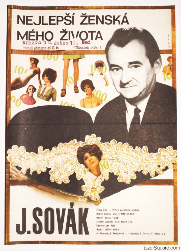 The Best Woman in My Life Movie Poster, 60s Collage Art