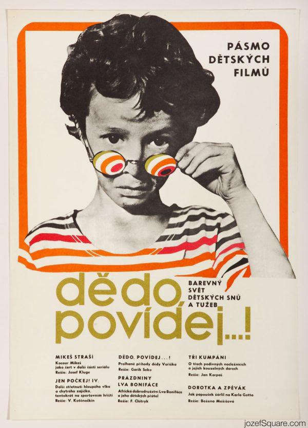 Tell Us, Grandpa Movie Poster, 70s Kids Poster Art