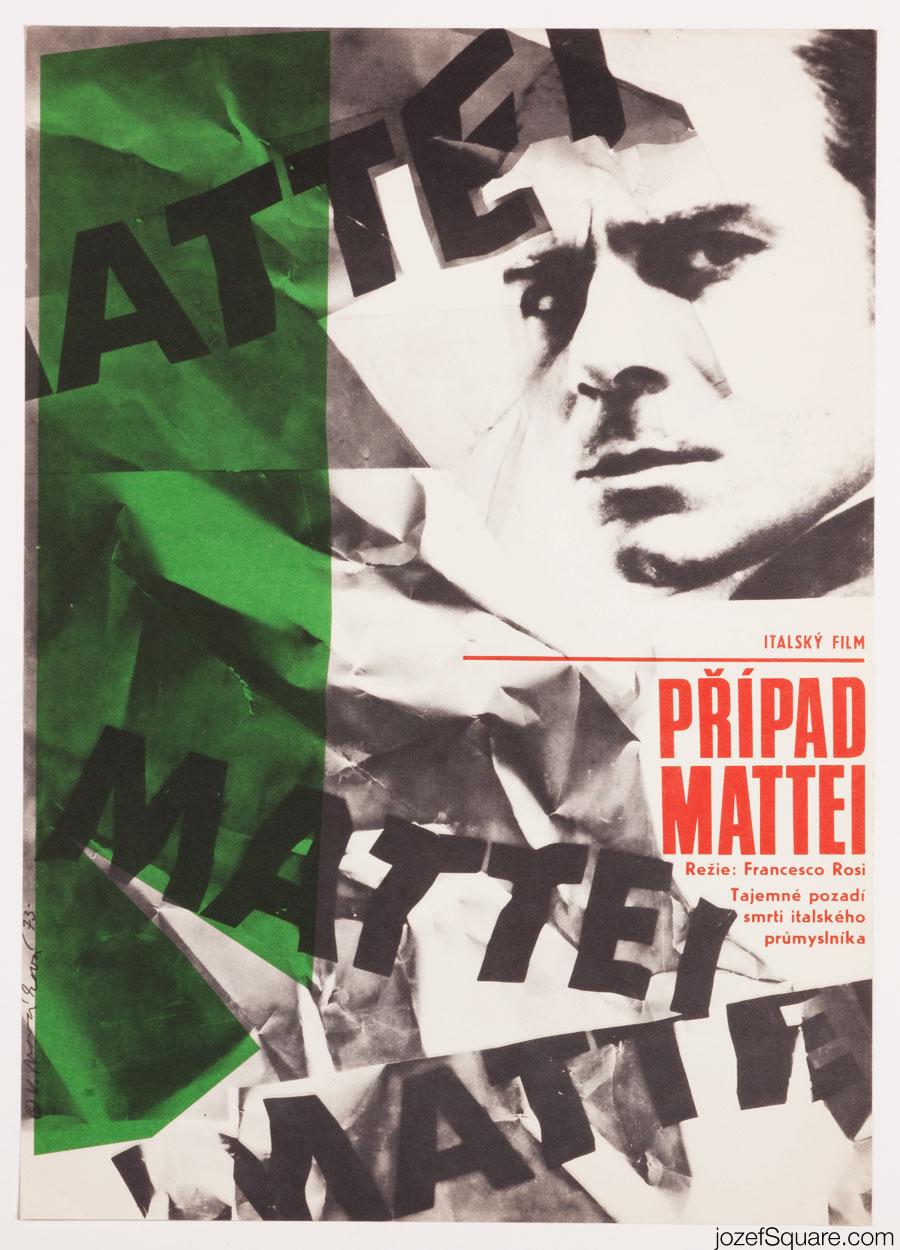 The Mattei Affair Movie Poster, 70s Poster Art