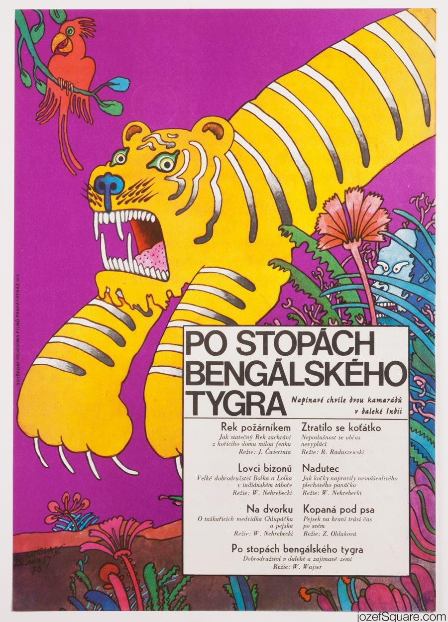 In the Footsteps of the Bengal Tiger, Kids Movie Poster