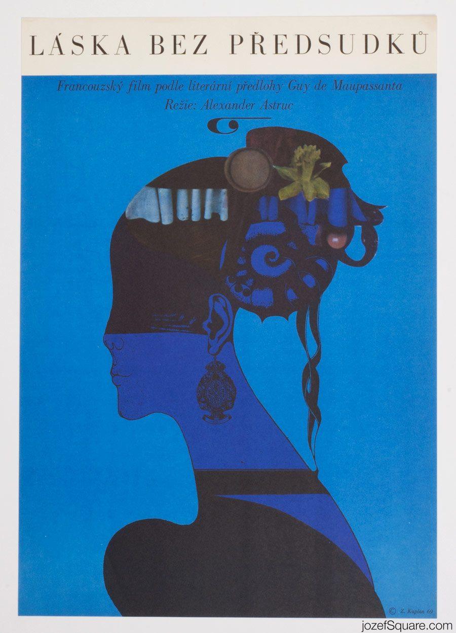 End of Desire Movie Poster, Surreal Poster Art, Zdenek Kaplan
