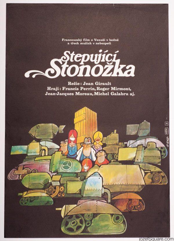 Zdenek Vlach Movie Poster, 70s Illustrated Artwork