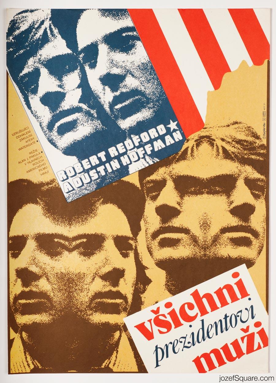 Movie Poster - All the President's Men Movie Poster, 80s Poster Art