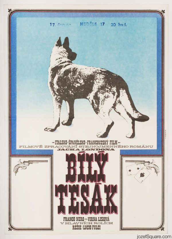 White Fang Movie Poster, Jack London, 70s Artwork